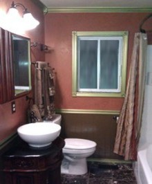 residential painting - bathroom